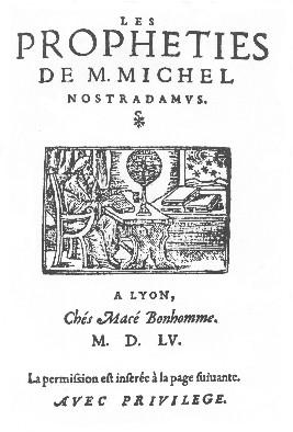 Edition des Prophéties (1555)